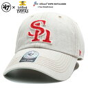 フォーティーセブンブランド 47BRAND 帽子 キャップ ローキャップ ボールキャップ CAP メンズ レディース ージュ 福岡ソフトバンクホークス 刺繍 切替 シンプル かっこいい おしゃれ NP