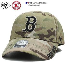 フォーティーセブンブランド 47BRAND 帽子 ローキャップ ボールキャップ CAP メンズ レディース 迷彩 b系 ヒップホップ ストリート系 ボストン レッドソックス 迷彩 リップストップ カーブ かっこいい おしゃれ MLB 大リーグ メジャーリーグ ベースボール MYERS02MRS