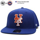 フォーティーセブンブランド 47BRAND 帽子 スナップバック CAP メンズ レディース 青 b系 ヒップホップ ストリート系 ファッション ニューヨーク メッツ アシンメトリー バイカラー刺繍