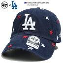 フォーティーセブンブランド 47BRAND 帽子 ローキャップ ボールキャップ CAP メンズ レディース 紺 b系 ヒップホップ ストリート系 ファッション ロサンゼルス ドジャース 星 刺繍 かっ
