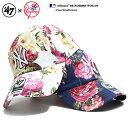 フォーティーセブンブランド 47BRAND 帽子 ローキャップ ボールキャップ CAP メンズ レディース 白 紺 b系 ヒップホップ ストリート系 ファッション ニューヨーク ヤンキース 薔薇 花柄