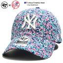 フォーティーセブンブランド 47BRAND 帽子 ローキャップ ボールキャップ CAP メンズ レディース 紺 b系 ヒップホップ ストリート系 ファッション ニューヨーク ヤンキース 薔薇 花柄 総