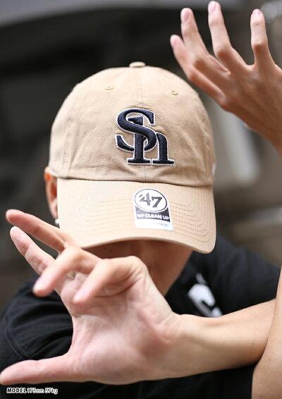 47BRAND(フォーティーセブンブランド)福岡ソフトバンクホークスのキャップ(帽子)