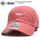 フォーティーセブンブランド 47BRAND 帽子 キャップ ローキャップ ボールキャップ CAP メンズ レディース サーモンピンク 東京ヤクルトスワローズ シンプル ワンポイント 刺繍 Fサイズ つ