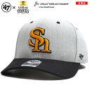 福岡ソフトバンクホークス フォーティーセブンブランド 47BRAND 帽子 キャップ スナップバック CAP メンズ レディース グレー ストリート系 ファッション 切替 刺繍 Fサイズ かっこいい