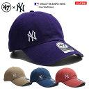 47BRAND ニューヨーク ヤンキース フォーティーセブンブランド 帽子 キャップ ローキャップ ボールキャップ CAP メンズ レディース 紫 カーキ 青 サーモンピンク 0 b系 ヒップホップ