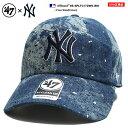 47BRAND ニューヨーク ヤンキース フォーティーセブンブランド 帽子 キャップ ローキャップ ボールキャップ CAP メンズ レディース インディゴブルー b系 ヒップホップ ストリート系 刺繍