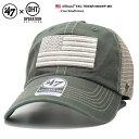 フォーティーセブンブランド 47BRAND 帽子 OHT 退役軍人負傷兵サポート基金 メッシュ ローキャップ ボールキャップ CAP メンズ レディース カーキ b系 ヒップホップ ストリート系 ファ