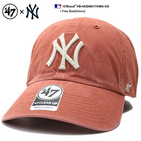 フォーティーセブンブランド 47BRAND ニューヨーク ヤンキース 帽子 ローキャップ ボールキャップ CAP メンズ レディース オレンジ 男女兼用 b系 ヒップホップ ストリート系 ファッション シンプル 刺繍 Fサイズ NY ウォッシュド おしゃれ MLB 刺繍 B-HUDSN17OWS-OX