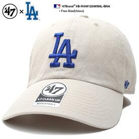 フォーティーセブンブランド 47BRAND ロサンゼルス ドジャース 帽子 ローキャップ ボールキャップ CAP メンズ レディース ベージュ 男女兼用 b系 ヒップホップ ストリート系 ファッション シンプル ワンポイント 刺繍 Fサイズ LA ウォッシュド おしゃれ MLB B-RGW12GWSNL-BNA