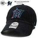 フォーティーセブンブランド 47BRAND マイアミ マーリンズ 帽子 ローキャップ ボールキャップ CAP メンズ レディース 黒 男女兼用 b系 ヒップホップ ストリート系 ファッション ブランド