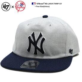 b系 ヒップホップ ストリート系 ファッション メンズ レディース キャップ スナップバック 【B-LAKVI17WHP-GY】 フォーティーセブンブランド 47BRAND ニューヨーク ヤンキース 帽子 CAP MLB メジャーリーグ 刺繍 グレー 紺 バイカラー 切替 正規品 ギフト