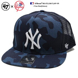 b系 ヒップホップ ストリート系 ファッション メンズ レディース キャップ スナップバック 【B-STLCM17LAP-YR】 フォーティーセブンブランド 47BRAND ニューヨーク ヤンキース 帽子 CAP MLB メジャーリーグ 刺繍 USAモデル 紺 迷彩柄 メッシュ 切替 正規品 ギフト