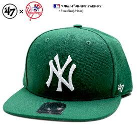 b系 ヒップホップ ストリート系 ファッション メンズ レディース キャップ 【B-SRS17WBP-KY】 フォーティーセブンブランド 47BRAND ニューヨーク ヤンキース 帽子 コラボ CAP MLB メジャーリーグ ベースボール NYロゴ刺繍 USAモデル 緑 男女兼用 正規品 ギフト