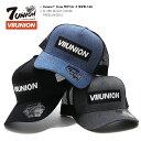 セブンユニオン 7UNION 帽子 メッシュキャップ 【IAVW-168】 メンズ レディース CAP おしゃれ 定番 ボックスロゴ VIIU…