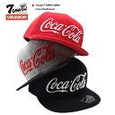 セブンユニオン 7UNION 帽子 キャップ スナップバック CAP メンズ レディース 赤 グレー 黒 b系 ヒップホップ ストリート系 ファッション ブランド コカ・コーラ 公式 コラボ限定 刺繍