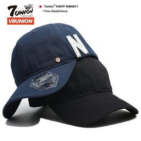 セブンユニオン 7UNION 帽子 ローキャップ ボールキャップ CAP メンズ レディース 紺 黒 b系 ヒップホップ ストリート系 ファッション ブランド パリのサーファー ブロンズチャーム フェルト Nロゴ 刺繍 ワンポイント かっこいい おしゃれ アメカジ IAXY-NANA11