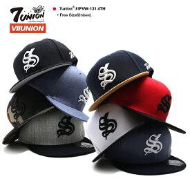 セブンユニオン 7UNION 帽子 キャップ スナップバック CAP メンズ レディース 黒 青 迷彩 グレー黒 紺茶色 赤 白 青 b系 ヒップホップ ストリート系 ファッション ブランド Sロゴ 稲妻 サンダーボルト 刺繍 シンプル 迷彩 バイカラー かっこいい おしゃれ IFVW-131 4TH