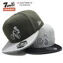 セブンユニオン 7UNION 帽子 キャップ スナップバック CAP メンズ レディース オリーブー グレー黒 b系 ヒップホップ ストリート系 ファッション ブランド スカル ビンテージBMX リフ