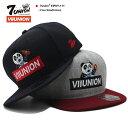セブンユニオン 7UNION 帽子 キャップ スナップバック CAP メンズ レディース 黒 グレーバーガンディ b系 ヒップホップ ストリート系 ファッション ブランド 赤いボックスロゴ 刺繍 パン