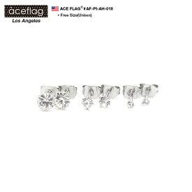b系 ヒップホップ ストリート系 ファッション メンズ レディース ピアス 【AF-PI-AH-018】 エースフラッグ ACEFLAG ピアス イヤリング 2個ペア 1セット 一粒ダイヤカットラインストーン クリアー ダイヤモンドカット 定番 ホール式 大きいサイズ 正規品 ギフト 両耳