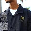 ACE FLAG 半袖シャツ メンズ レディース 春夏用 全4色 大きいサイズ ビッグシルエット エースフラッグ シャツ 半袖 開襟シャツ ワーク…