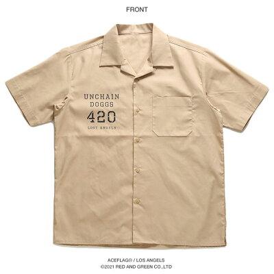 ACEFLAG(エースフラッグ)の半袖シャツ(総柄)