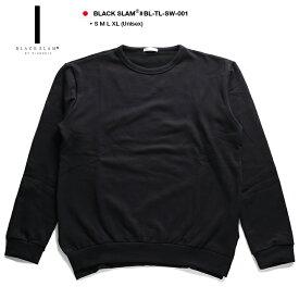 ブラックスラム バイ クラブノイズ BLACK SLAM by clubno1z トレーナー スウェット メンズ レディース 黒 S M L XL 2L LL 無地 ビッグシルエット ドロップショルダー シンプル b系 ヒップホップ ストリート系 ファッション 服 大きいサイズ ギフト BS-TL-SW-001