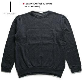 ブラックスラム バイ クラブノイズ BLACK SLAM by clubno1z トレーナー スウェット メンズ レディース グレー S M L XL 2L LL 無地 ビッグシルエット ドロップショルダー シンプル b系 ヒップホップ ストリート系 ファッション 服 大きいサイズ ギフト BS-TL-SW-002