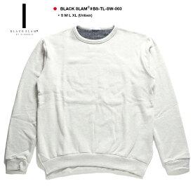 ブラックスラム バイ クラブノイズ BLACK SLAM by clubno1z トレーナー スウェット メンズ レディース 白 S M L XL 2L LL 無地 ビッグシルエット ドロップショルダー シンプル b系 ヒップホップ ストリート系 ファッション 服 大きいサイズ ギフト BS-TL-SW-003