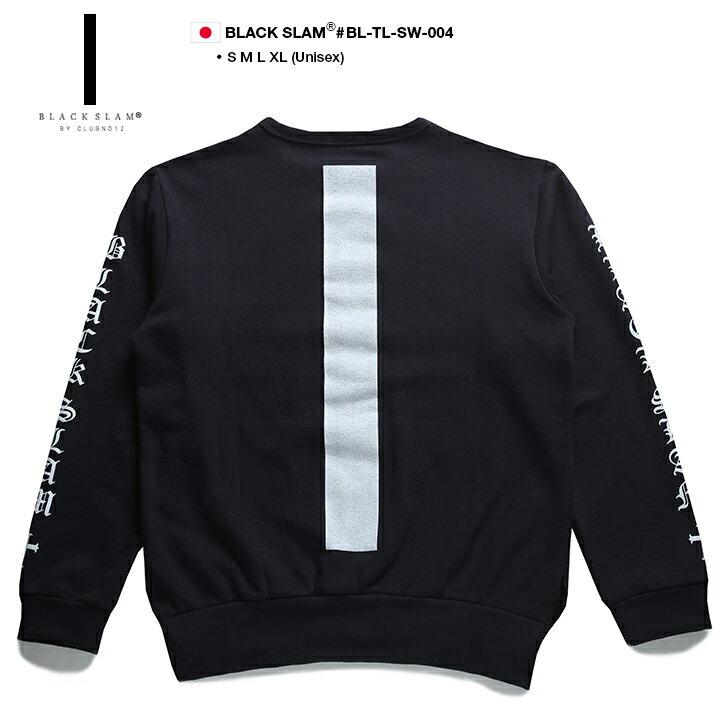 【送料無料】b系 ヒップホップ ストリート系 ファッション メンズ レディース スウェット トレーナー 【BS-TL-SW-004】 ブラックスラム BLACK SLAM 萌え袖 ロングアーム ビッグシルエット 袖プリント S M L XL 2L LL 大きいサイズ 正規品 02P03Dec16【楽ギフ_包装】