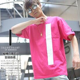 BLACK SLAM Tシャツ 半袖 メンズ レディース 春夏用 ピンク 大きいサイズ クラブノイズ ブラックスラム おしゃれ かっこいい シンプル ボックスロゴ ライン 縦棒 マゼンダ 特大版 b系 ヒップホップ ファッション ダンス ストリート系 ハイ ブランド 服【セール】BS-TS-TS-002