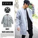 【送料無料】春アウター b系 ヒップホップ ストリート系 ファッション メンズ 【16CV-A426-B56-GY】 シヴィルクロージング CIVIL CLOTH…