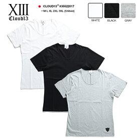 b系 ヒップホップ ストリート系 ファッション 服 メンズ レディース Tシャツ 【35522017】 クラウドサーティーン CLOUD13 半袖 ティーシャツ U字ネック 無地 スケート バンド系 M L XL 2L LL 2XL 3L XXL 3XL 4L XXXL 大きいサイズ 正規品 ギフト
