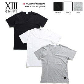 b系 ヒップホップ ストリート系 ファッション 服 メンズ レディース Tシャツ 【35522016】 クラウドサーティーン CLOUD13 半袖 ティーシャツ Vネック 無地 スケート バンド系 M L XL 2L LL 2XL 3L XXL 3XL 4L XXXL 大きいサイズ 正規品 ギフト