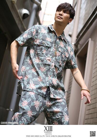 CLOUD13(クラウドサーティーン)の半袖シャツ(総柄)