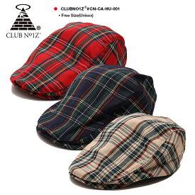 クラブノイズ CLUB NO1Z ハンチング 【CN-CA-HU-001】 メンズ レディース キャップ 帽子 かっこいい おしゃれ ハンチング帽 キャスケット CAP 赤 紺 ベージュ アメカジ ダンス衣装 b系 ヒップホップ ストリート系 ファッション ブランド