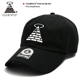 b系 ヒップホップ ストリート系 ファッション メンズ レディース キャップ 【CN-CA-SB-030】≪D-PYRAMID BALL CAP BLACK≫ クラブノイズ CLUB NO1Z 定番ロゴ CAP ベースボール ボールキャップ Fサイズ(男女兼用) 正規品 ギフト