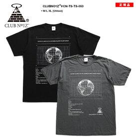 クラブノイズ CLUB NO1Z Tシャツ 半袖 メンズ レディース 男女兼用 黒 グレー M L XL 2L LL 大きいサイズ b系 ヒップホップ ストリート系 ファッション ブランド かっこいい おしゃれ デジタル 惑星 地球 宇宙 ギャラクシー ダンスバトル ビッグシルエット CN-TS-TS-053