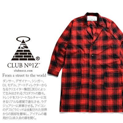 CLUBNO1Z(クラブノイズ)の長袖シャツ(チェック柄)