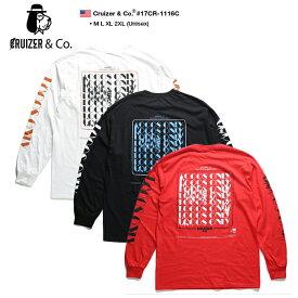 クルーザーアンドコー CRUIZER&CO ロンT ロングスリーブTシャツ 長袖 メンズ 白 黒 赤 M L XL 2L LL 2XL 3L XXL 大きいサイズ b系 ヒップホップ ストリート系 ファッション ブランド 服 かっこいい おしゃれ 袖プリント メキシカンギャング チカーノ LOCOS ロコス 17CR-1116C