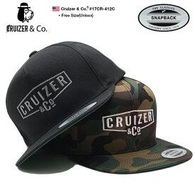 クルーザーアンドコー CRUIZER&CO 帽子 キャップ スナップバック CAP メンズ レディース 黒 迷彩 b系 ヒップホップ ストリート系 ファッション ブランド YUPOONG ユーポン 刺繍 迷彩 ワンポイント メキシカンギャング チカーノ Fサイズ かっこいい おしゃれ LA 17CR-412C