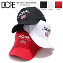 ドープスポーツ DOPE SPORT 帽子 キャップ スナップバック CAP メンズ レディース 黒 白 赤 男女兼用 b系 ヒップホップ ストリート系 ファッション ブランド ハイクラウン カーブ