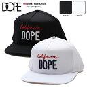 b系 ヒップホップ ストリート系 ファッション メンズ レディース キャップ スナップバック 帽子 【D0816-H121】 ドープ DOPE CAP カリフォルニア ロゴ刺繍 高品質ツイル 白 黒