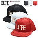 b系 ヒップホップ ストリート系 ファッション メンズ レディース キャップ スナップバック 帽子 【D1016-H160】 ドープ DOPE CAP ゴールドプレート 金 ロゴ 高品質キルティング
