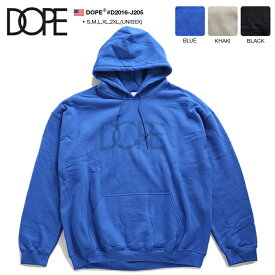 ドープ DOPE フードパーカー スウェット 長袖 メンズ レディース 青 カーキ 黒 S M L XL 2L LL 2XL 3L XXL 大きいサイズ b系 ヒップホップ ストリート系 ファッション ブランド かっこいい おしゃれ 裏起毛 ビッグシルエット オーバーサイズ LAセレブ アメリカ製 D2016-J205
