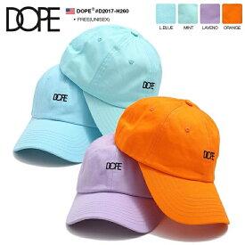 ドープ DOPE 帽子 キャップ ローキャップ ボールキャップ CAP メンズ レディース 水色 ミント ラベンダー オレンジ 男女兼用 b系 ヒップホップ ストリート系 ファッション ブランド かっこいい おしゃれ 定番ロゴ刺繍 アメカジ LAセレブ 西海岸 ギフト D2017-H260