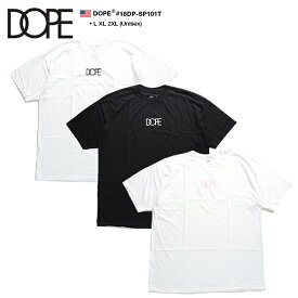 ドープ DOPE Tシャツ 半袖 メンズ レディース 白黒 黒 白ピンク L XL 2L LL 2XL 3L XXL 大きいサイズ b系 ヒップホップ ストリート系 ファッション ブランド 服 かっこいい おしゃれ シンプル ワンポイント モノトーン LAセレブ 海外セレクト アメリカ製 18DP-SP101T