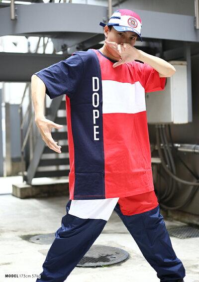 DOPE(ドープ)のTシャツ(切替総柄)