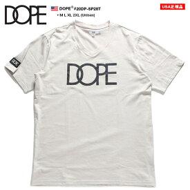 ドープ DOPE Tシャツ 半袖 定番ロゴ メンズ レディース 男女兼用 カーキ M L XL 2L LL 2XL 3L XXL 大きいサイズ b系 ヒップホップ ストリート系 ファッション ブランド 服 かっこいい おしゃれ シンプル ワンポイント 袖ロゴ シリコンワッペン 20DP-SP28T